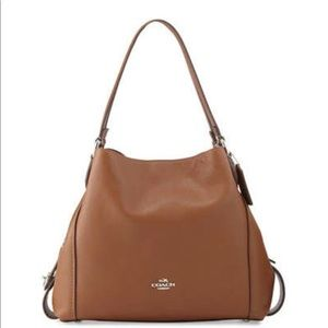 Coach Edie 31 cognac pebbles leather